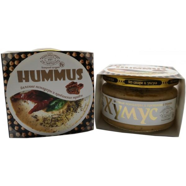 Хумус с вялеными помидорами и прованскими травами